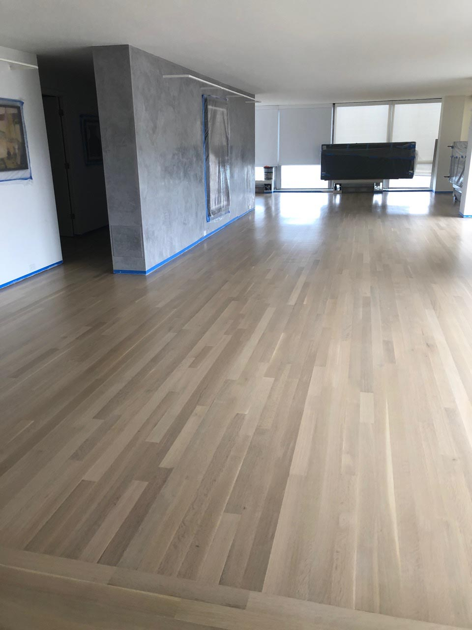 White Oak Wood Floor With Country White Stain Color Midwest